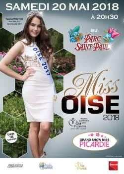 Élection Miss Oise Samedi 19 Mai 2018 au Parc Saint Paul