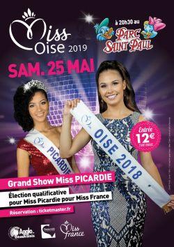Miss Oise 2019 - Samedi 25 Mai 2019 à 20h30 au Parc Saint Paul